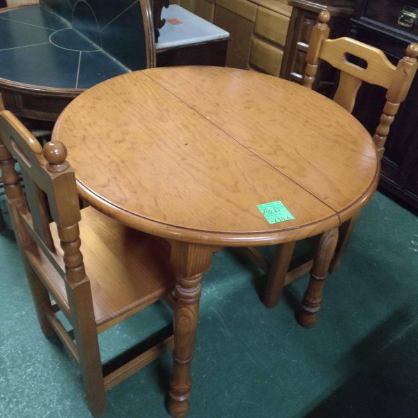 Mesa de madera de pino extensible