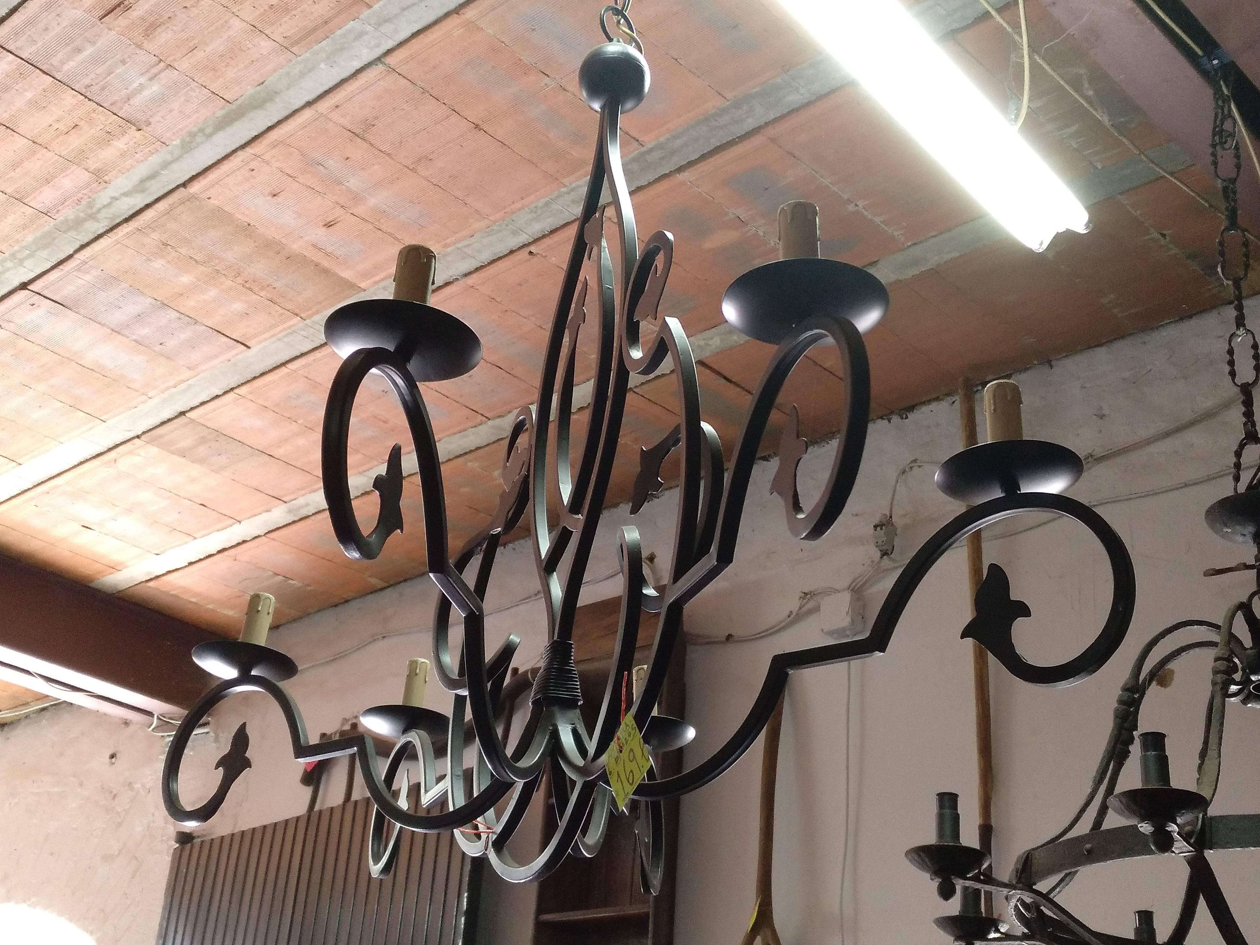 Lámpara 6 brazos de diseño 3